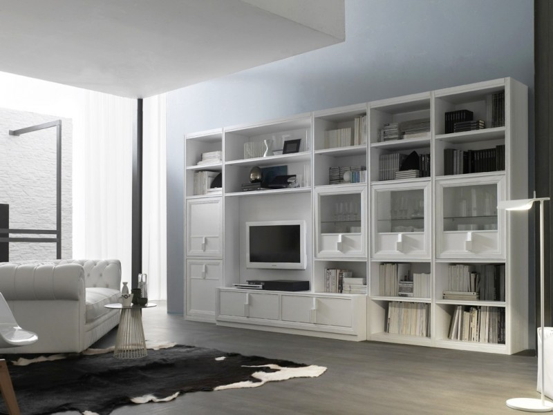 Proposte d 39 arredo di franco gulotta arredamento camere cucine e mobili a sciacca prodotti - Parete attrezzata bianca ...