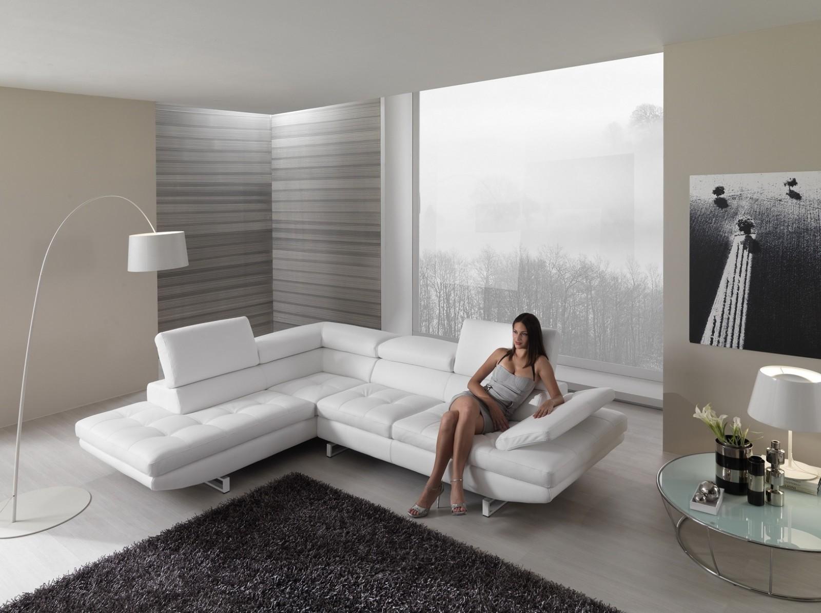 proposte d'arredo di franco gulotta - arredamento, camere, cucine ... - In Pelle Bianca Divano Ad Angolo Design