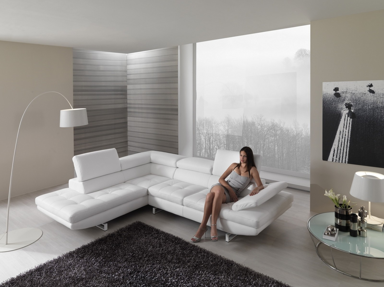 Proposte d 39 arredo divani habart - Divano bianco in pelle ...