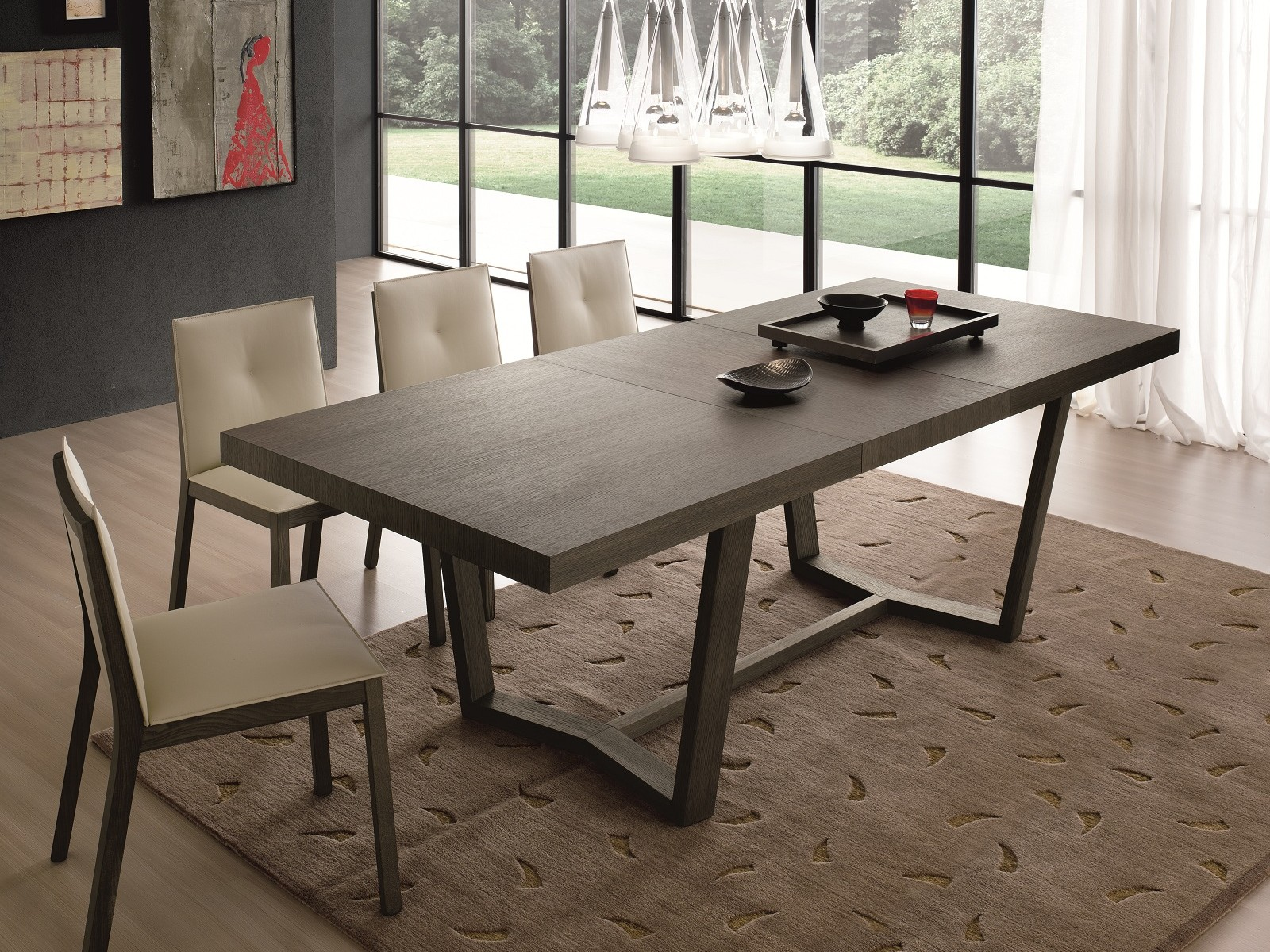 Proposte d 39 arredo complementi tavolo cartesio in legno for Tavoli legno moderni allungabili